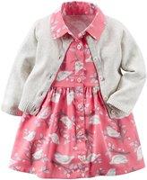Carter's Cardigan Dress Set (Baby) - Pink - 3 Months