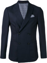 Z Zegna pointed lapels double-breasted blazer - men - Cotton/Cupro/Wool - 48