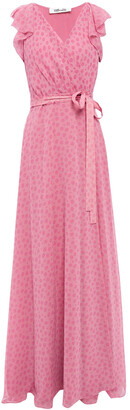 Diane von Furstenberg Eldridge Ruffled Floral-print Chiffon Maxi Wrap Dress
