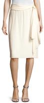 Valentino Silk Tie Knee Length Skirt