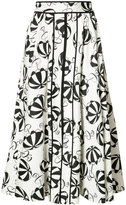 Carolina Herrera printed flared skirt - women - Cotton/Spandex/Elastane - 2