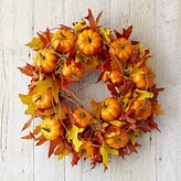 Williams-Sonoma Williams Sonoma Maple Leaf Pumpkin Wreath
