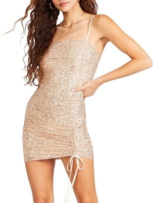 Steve Madden Sequin Mini Dress Gold