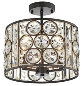 """Home Accessories Moira 13"""" 3-Light Indoor Pendant Lamp with Light Kit"""