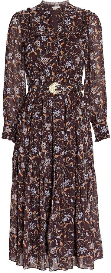 Nicholas Dasha Floral Chiffon Midi Dress