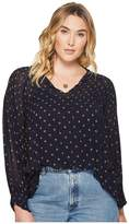 Lucky Brand Plus Size Smocked Top