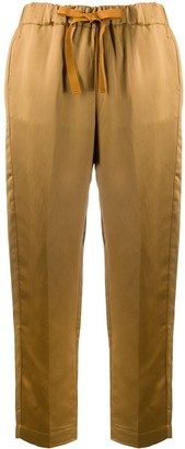 Semi-Couture Cropped Tie Waist Trousers