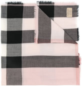 Burberry woven check cashmere scarf