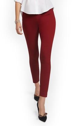 New York & Co. Petite Whitney High-Waisted Pull-On Slim-Leg Pant - Checkered