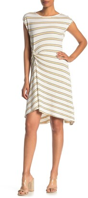 Max Studio Cap Sleeve Side Cinch Dress