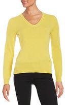 Lord & Taylor Basic V-Neck Cashmere Sweater