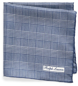 Ralph Lauren Glen Plaid Silk Pocket Square