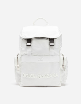 Dolce & Gabbana Dna Sicilia Nylon Backpack With Rubberized Logo