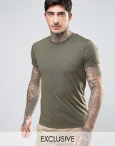 Farah Twisted Yarn Marl T-shirt Exclusive In Green
