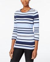 Karen Scott Striped Top, Only at Macy's