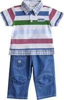 Schnizler Boys Clothing Set Live Guard 2 with Double Layered Look Polo Shirt & Pants Trousers - Multicoloured - 3-6 Months