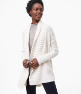 LOFT Petite Ribbed Shawl Open Cardigan