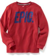Old Navy Thermal Graphic Tee for Boys