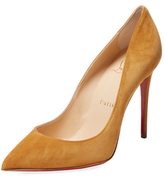 Christian Louboutin Pigalle Follies Suede Pointed-Toe Pump