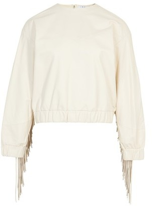 IRO Gentry leather sweater