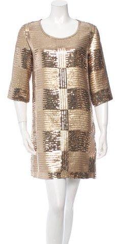 Jay Ahr Sequined Mini Dress