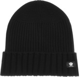 Versace Accessories Ribbed Beanie Black
