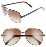 Bobbi Brown Women's 'The Truman' 60Mm Aviator Sunglasses - Brown/ Havana/ Honey