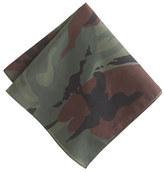 Camo Italian cotton pocket square in
