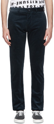 MAISON KITSUNÉ Blue Corduroy Perfect Chino Trousers