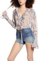 Sndys Dreamz Floral Print Long Sleeve Top