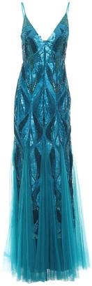 Alberta Ferretti Embellished Tulle Gown