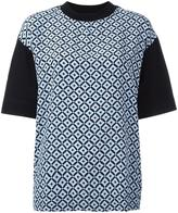 Marni Tracery print T-shirt - women - Silk/Cotton - 40