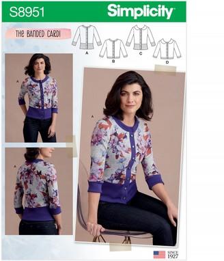 Simplicity Women's Cardigan Sewing Pattern, 8951