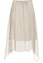 Raquel Allegra Rainwash-print silk skirt
