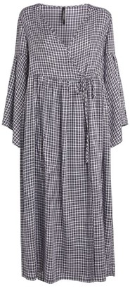 Mother of Pearl Melanie Check Wrap Dress