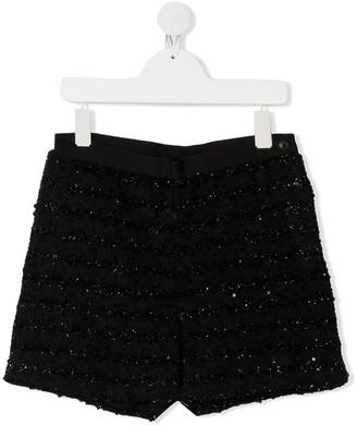 Karl Lagerfeld Paris Sequin Embellished Shorts
