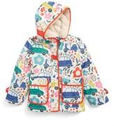 Toddler Girl's Mini Boden Shower-Resistant Hooded Anorak