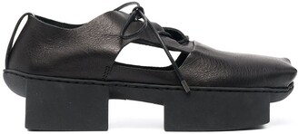 Trippen Square-Toe Lace-Up Leather Shoes