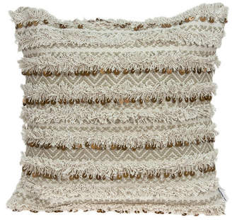 BEIGE Parkland Collection Hailey Bohemian Pillow Cover With Down Insert