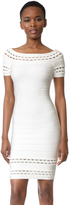 Herve Leger Marija Boat Neck Dress