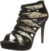 Carlos by Carlos Santana Women's Strata Dress Sandal,Black/Snake,9 M US