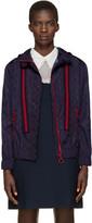 Gucci Navy Nylon Guccighost Jacket