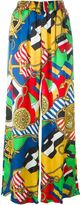 Love Moschino nautical theme print palazzo trousers
