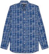 Whistles Dot Grid Print Shirt