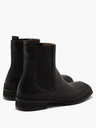 The Row Garden Leather Chelsea Boots - Black