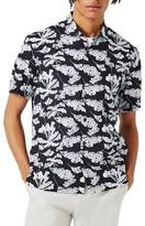 Topman Men's Japanese Floral Print Shirt