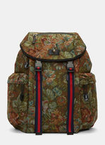 Gucci Men's Zaino Floral Brocade Backpack In Green
