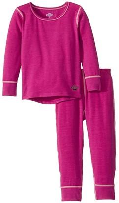 Hot Chillys Kids MTF Originals II Set (Toddler) (Candyland Plum) Girl's Active Sets