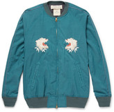 Remi Relief - Embroidered Voile Bomber Jacket