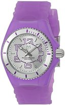Technomarine Women's 'Cruise Jellyfish' Swiss Quartz Stainless Steel and Silicone Casual Watch, Color:Purple (Model: TM-115128)